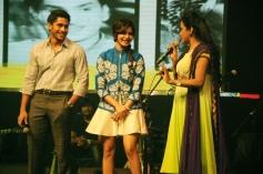 Naga Chaitanya, Samantha and Suma at Manam Movie Audio Celebrations
