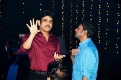 Nagarjuna and Anoop Rubens at Manam Movie Audio Celebrations