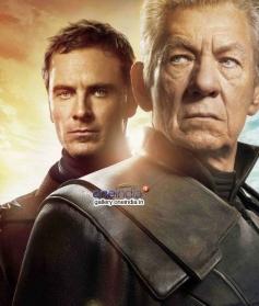 Michael Fassbender and Sir Ian Mckellen in X Men Days of Future Past