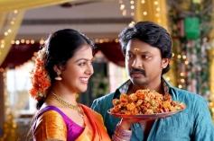 Monal Gajjar and Krishna still from Vanavarayan Vallavarayan