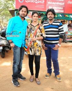 Nirranjan, Poojasri and Guru in Kannada Movie Paipoti