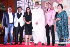 Pakhi Hegde, BIG B and Gulshan Grover at Leader film first look launch