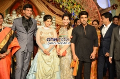 Ram Charan at Dil Raju Daughter Wedding Reception