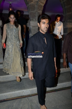 Ram Charan with his Wife at Dil Raju Daughter Wedding Reception