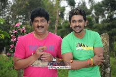 Ravishankar Gowda and Ajith in Kannada Movie Ondu Chance Kodi