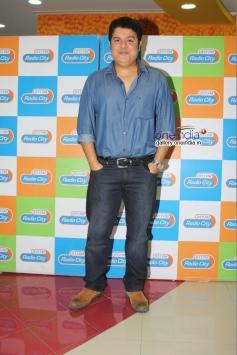 Sajid Khan at Humshakals Music Premier at Radio City Office.