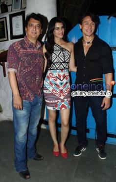 Sajid Nadiadwala, Tiger Shroff and Kriti Sanon at Heropanti Success Bash