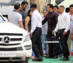 Salman Khan Snapped Image at Mehbob Studio Bandra