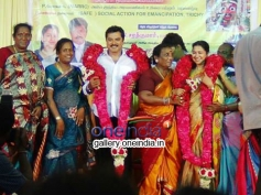 Sarathkumar and Raadhika Sarathkumar at Koovagam Beauty Show