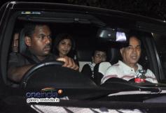 Shilpa Shetty with Raj kundra and parents at Tiger Sharoff's Heropanti Premiere Show