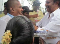 Actor Rajinikanth meets Blind and visually challenged People