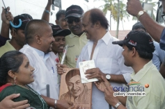 Rajinikanth meets Blind and visually challenged People