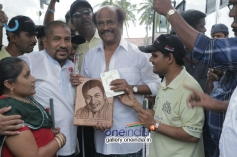 Super Star Rajinikanth meets Blind and visually challenged People