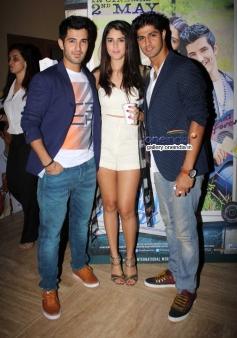 Tanuj Virwani, Aditya Seal and Izabelle Leite at Purani Jeans film screening