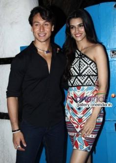Tiger Shroff and Kriti Sanon at Heropanti Success Bash