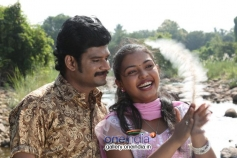 TS Vasan and Mridula Vijay in Jennifer Karuppaiya Still