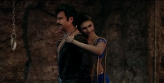Rajinikanth and Deepika Padukone still from Vikrama Simha