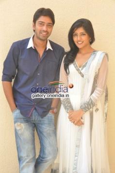 Actor Eesha and Allari Naresh at Bandipotu Movie Launch
