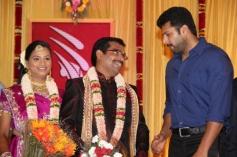 Actor Jayam Ravi at PRO Sankaralingam Son Wedding Reception