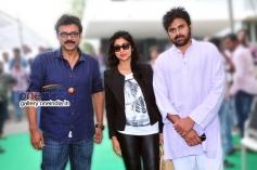 Actor Pawan Kalyan and Venkatesh at Gopala Gopala Movie Launch