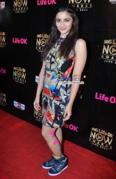 Alia Bhatt at Life Ok Now Awards 2014