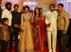 Shaam at Amala Paul and AL Vijay Marriage Reception