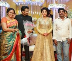 Lakshmi Ramakrishnan at Amala Paul and AL Vijay Marriage Reception