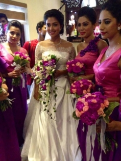 Amala Paul at church for Engagement Ceremony