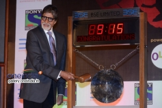 Amitabh Bachchan rings the first trading day