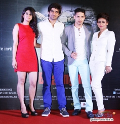 Aneet Kaur, Puneet, Herry and Debonita at First Look and Trailer Launch of Dilip Sood's Baangarh