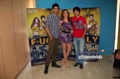 Arfi Lamba, Kiara Advani and Mohit Marwah at Fugly Movie Team Meets the Media
