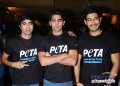Arfi Lamba, Vijender Singh & Mohit Marwah at Peta's New Campaign Launch