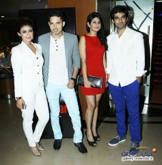 Debonita, Herry, Aneet Kaur and Puneet at First Look and Trailer Launch of Dilip Sood's Baangarh