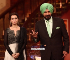 Dia Mirza, Navjot Singh Sidhu at Bobby Jasoos Promotion on Comedy Nights with Kapil