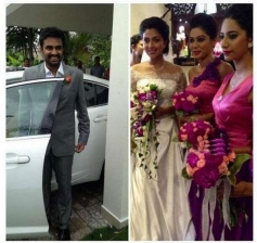 Director Vijay and Amala Paul at church for Engagement Ceremony