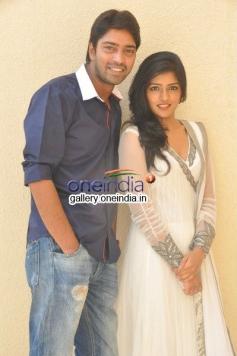 Eesha and Allari Naresh at Bandipotu Movie Launch