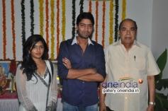 Eesha, Allari Naresh and D. Ramanaidu at Bandipotu Movie Launch