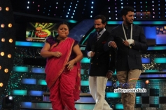 Riteish Deshmukh, Saif Ali Khan at Humshakals Promotion on the sets of DID Little Master Season 3