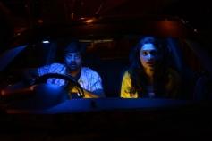 Naveen Chandra and Salony Luthra still from Sarabam Movie