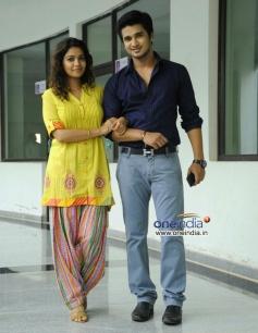 Nikhil & Swati Reddy stills from Karthikeyan Movie