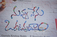 Nuvvu Nenu Okatavudaam Logo Launch