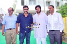 Pawan Kalyan and Venkatesh at Gopala Gopala Movie Launch