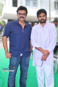 Power Star Pawan Kalyan and Victory Venkatesh at Gopala Gopala Movie Launch
