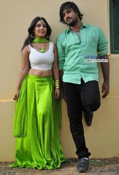 Priyanka and Santosh in Kannada Movie Ganapa