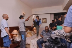 Rani Mukherjee Practices High Kicks on the set of Mardaani