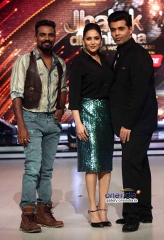 Remo Dsouza , Madhuri Dixit & Karan Johar at Press Conference of Jhalak Dikhla Jaa Season 7