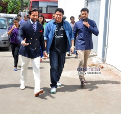 Saif, Sajid Khan, Riteish Deshmukh at Humshakals Promotion on the sets of DID Little Master 3
