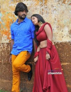 Santosh and Priyanka in Kannada Movie Ganapa