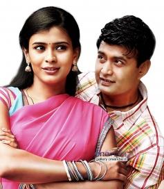 Sharan and Raksha in Kannada Movie Adyaksha