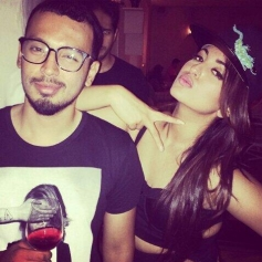 Sonakshi Sinha with her Friend at her Birthday Bash
